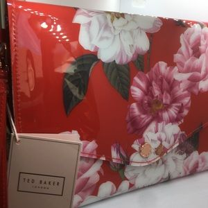 Ted Baker London Bags - Ted Baker White with red flowers Clutch purse
